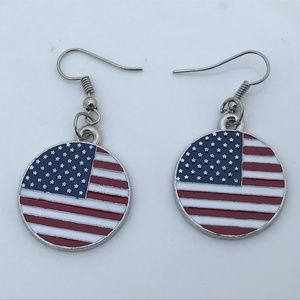 US Flag Earrings 4th July Women Earrings Fashion